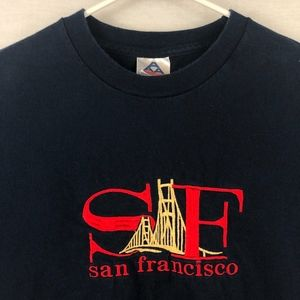 Other - SAN FRANCISCO Embroidered *VINTAGE* Navy Tee -L